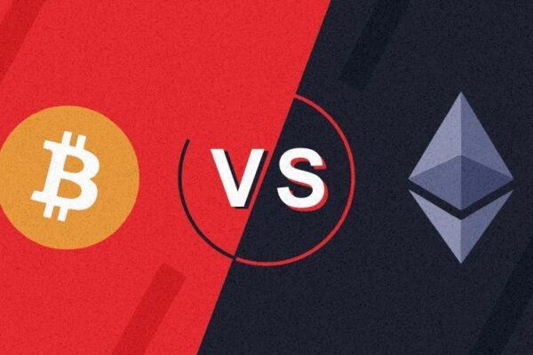 bitcoin vs ether
